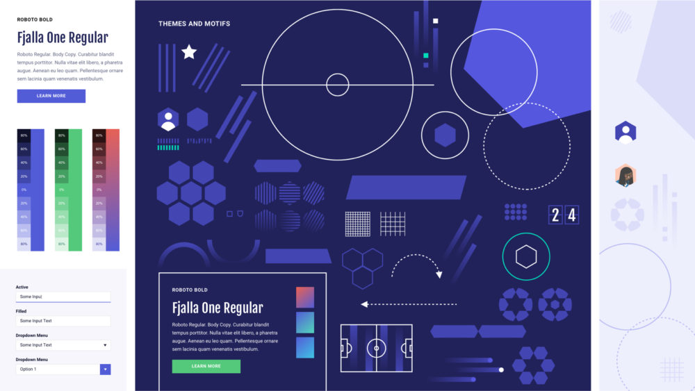 Early Moonllight design system explorations